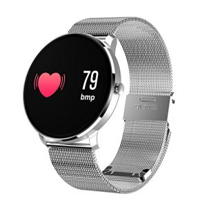 TechCode Smart Uhren, Smart Armband Farbe LCD-Bildschirm Smart Band Herzfrequenz Blutdruckmessgerät Smart Armband Armband Fitness Tracker Uhr für Frauen Kinder Männer für Android iOS Telefon (Silber)