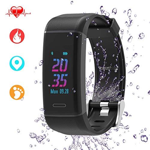 Leestar Fitness Trackers Farbbildschirm Fitness Armband mit Integriertem GPS & Dynamisc Pulsmesserhe, IP67 Wasserdicht Fitness Armbanduhr mit Herzfrequenz Damen Herren Android IOS