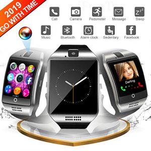 Smartwatch für Android Telefone, Bluetooth Smart Watch Touchscreen Smart Armbanduhr mit Kamera Wasserdicht Fitness Tracker Armbanduhr Kompatible für Android Samsung für Herren Damen
