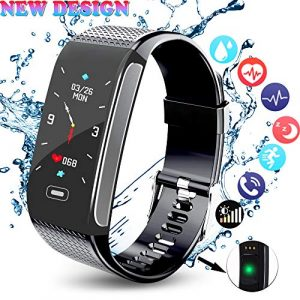 Fitness Armband HR mit Pulsmesser, Aktivitätstracker Fitness Tracker Blutdruck …