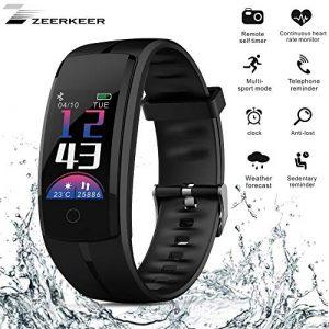 Fitness Armband,Zeerkeer Bluetooth Smartwatch Uhr mit Wasserdicht Fitness Uhr mit Touchscreen Pulsmesser für Damen Herren Kinder