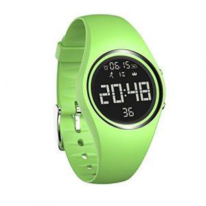 Armbanduhr und Fitness-Armband, wasserdicht IP68, zum genauen Verfolgen von Schritten, Entfernungen und Kalorien, mit Timer-Funktion, zum Laufen, Rennen für Damen und Herren (ohne Bluetooth), grün