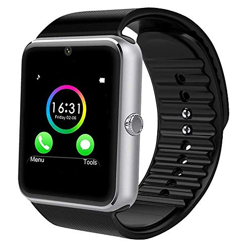 YAMAY Bluetooth Smartwatch Fitness Uhr Intelligente Armbanduhr Fitness Tracker Smart Watch Sport Uhr mit Kamera Schrittzähler Schlaftracker Romte Capture Kompatibel mit Android Smartphone