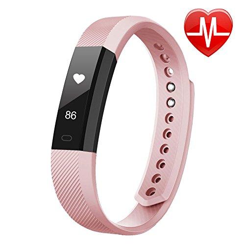 LETSCOM Fitness Armbanduhr mit Pulsmesser Wasserdicht Fitness Trackers Schrittzähler Kalorienzähler für Damen Kinder Herren Kompatibel mit iPhone Android Handy