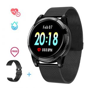 Smartwatch Herren, GOKOO Smart Watch Stylische IP67 Wasserdicht Sportuhren Männer Jungen Fitness Tracker Aktivitätstracker mit Pulsmesser Kalorienzähler Schlaftracker für Android IOS (Schwarz Ⅱ)