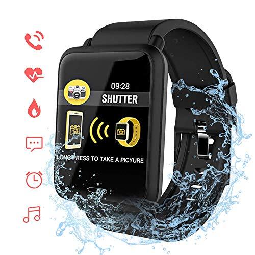 ACCEWIT Bluetooth Smartwatch IP67 Wasserdicht, 1,3 Zoll TFT Vollfarbig IPS Bildschirm Intelligente Uhr Armbanduhr Fitness Tracker Armbänder Herzfrequenz Blutdruck Touchscreen Lange Standby-Zeit