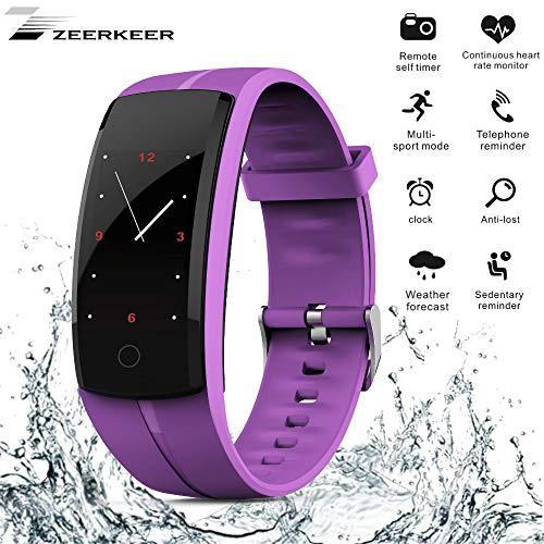Zeerkeer Fitness Tracker Uhr Smartwatch Armband Uhr mit Wasserdicht Pulsmesser Intelligente Benachrichtigung für Android und IOS