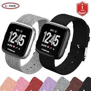 FunBand für Fitbit Versa Armband, Verstellbares Ersatz Woven Nylon Sporty Wrist Strap Band Armbanduhr Uhrenarmband Schlaufe Armbänder für Fitbit Versa Smartwatch