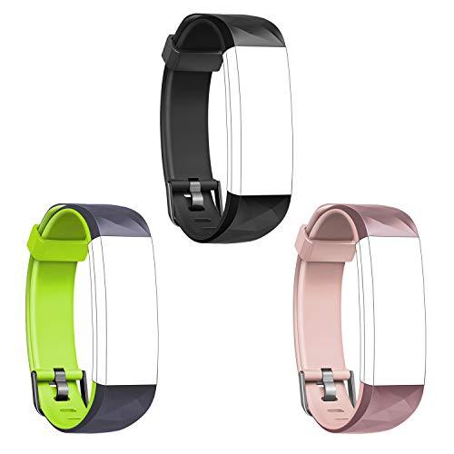 Letsfit Fitness Armband Farbbildschirm mit Pulsuhren, Fitness Tracker Aktivitätstracker Schrittzähler für Herren Damen