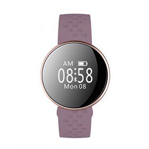 Bluetooth Smart Armband Energy Core Fitness-Tracker Herzfrequenz Schlafüberwachung, USB wiederaufladbar, IP67 wasserdicht Free Size violett
