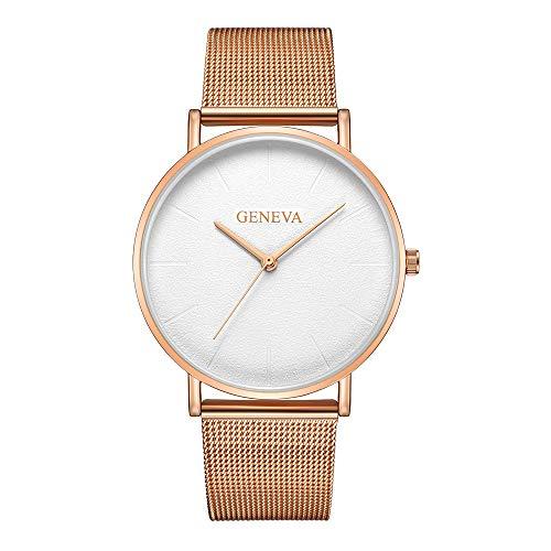 Cramberdy Uhr Damen Armbanduhr Frauen Armbanduhr Mädchen Mode Luxus Uhren Edelstahl Analoge Quarz Armbanduhr Damen Uhr Roségold Uhr Gold