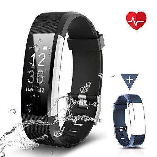 CHEREEKI Fitness Armband, Fitness Tracker Uhr mit Pulsmesser, Wasserdicht IP67 Aktivitätstracker Pulsuhren Bluetooth Smart ArmbandUhr Schrittzähler mit Schlafmonitor Kalorienzähler Anruf SMS