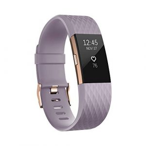 Fitbit Charge 2 Special Edition Unisex Armband Zur Herzfrequenz und Fitnessaufzeichnung, lavendel/rose-gold, S, FB407RGLVS-EU