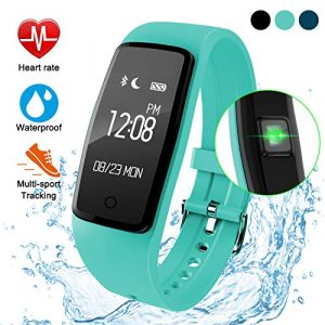 Fitness Armband mit Pulsmesser,Wasserdicht Fitness Tracker