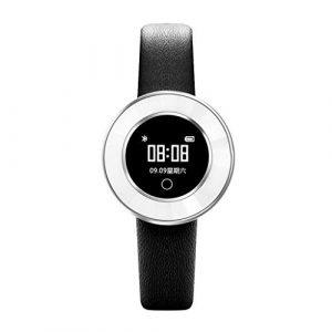 Liqiqi Fitness-Tracker, Damen, Smartwatch, Armband mit BT-Kamera, X6 Herzfrequenz-Monitor, IP68, wasserdicht, Sport, Aktivität, Schrittzähler für Android oder iOS Smartphones – Standby 15 Tage Silber