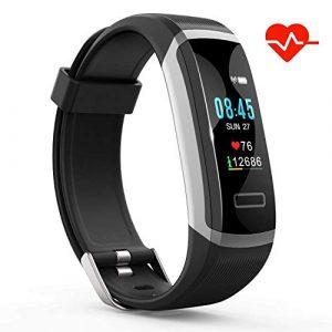 IDOOSMART Fitness Armband mit Pulsmesser,Sport Smart Watch,Wasserdicht IP67 Fitness Tracker,0,96 Zoll Farbbildschirm Aktivitätstracker Fitness Uhr