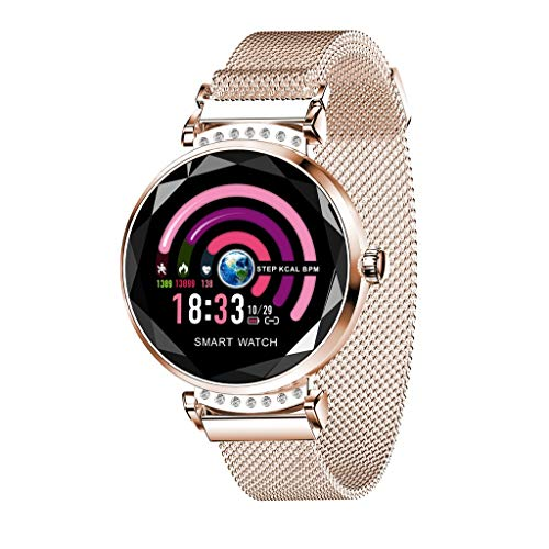 Bluetooth Smartwatch, BZLine H2 Intelligente Uhr Armbanduhr Fitness Tracker Sport Uhr mit Schrittzähler Blutdruck Schlaftracker Kompatibel mit Android und IOS für Frauen