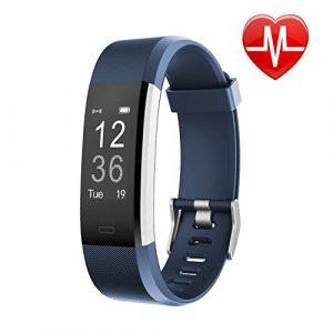 Letsfit Fitness Armband mit Herzfrequenz, Fitness Tracker, IP67 Wasserdicht Bluetooth Sportuhr mit Aktivitätstracker Schrittzähler, Schlaf Monitor, Kalorienzähler, SMS Anrufe für Android/iOS