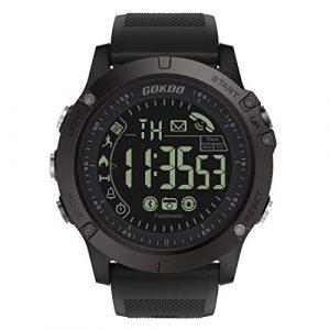Smartwatch Herren, GOKOO Stylische Sport Smartwatch Sportuhren Männer Jungen Fitness Tracker Aktivitätstracker mit Kalorienzähler Schrittzähler Stoppuhr Nachricht Push für Android IOS (Black)