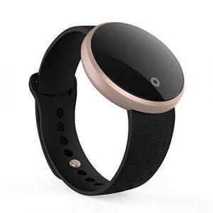 B36 Damen Fitness-Tracker, Android/iOS, wasserdicht, Smart-Watch, verstellbares Armband, Touchscreen, Bluetooth, Outdoor, Schrittzähler, Blutdruck-Herzfrequenz Free Size Schwarz