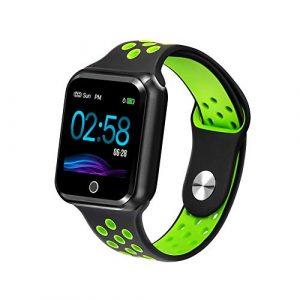WAFA Fitness Armband mit Pulsmesser Blutdruck, Wasserdicht IP67 Fitness Tracker Smartwatch Sportuhren GPS Aktivitätstracker, Sport Data Monitor Vibrationsalarm Anruf SMS für Damen Männer (Grün)
