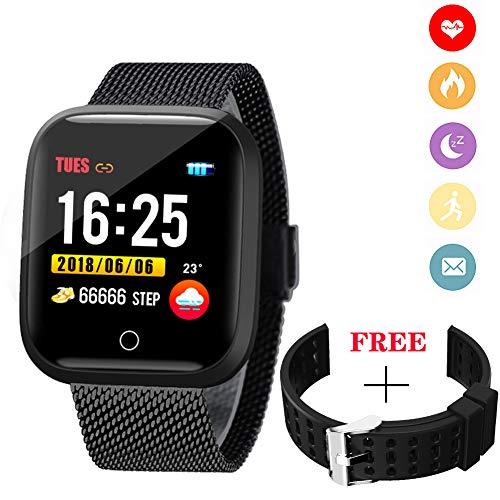 WISHDOIT Fitness Tracker Intelligente Uhr IP68 Wasserdicht Aktivität Tracker Mit Pulsmesser Schlafmonitor Smart Armband Schrittzähler Kalorienzähler Sportuhr Für Frauen Männer Kinder Für Android/IOS