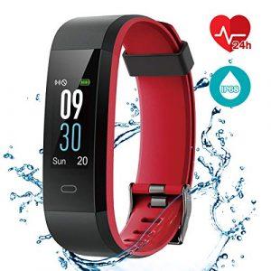 CHEREEKI Fitness Armband, Wasserdicht IP68 Fitness Tracker mit Pulsmesser Smartwatch Aktivitätstracker Pulsuhren Schrittzaehler Uhr Smart Watch Fitness Uhr für Damen Herren