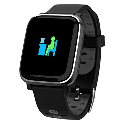 Luckhome Unisex Armbanduhr Digitale Sportuhr Damen Herren Digital Sport Uhr,Smart Watch Sport Fitness Aktivität Herzfrequenz Tracker Blutdruck Armband(Grau)