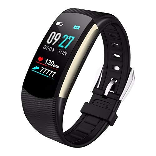 Chenang Fitness Tracker,Wasserdicht Fitness Armband mit Pulsmesser 0,96 Zoll Farbbildschirm Smartwatch Aktivitätstracker Pulsuhren Schrittzaehler Uhr Smart Watch Fitness Uhr für Damen Herren