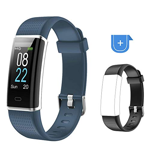 Willful Fitness Armband 0,96 Zoll Farbbildschirm Fitness Tracker Smartwatch Wasserdicht IP68 Fitness Uhr Aktivitätstracker Schrittzähler Uhr Pulsmesser Mit Schwarzes Ersatzband für Damen Herren