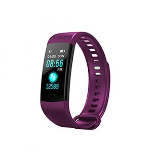UxradG Smart-Fitness-Tracker-Armband, Multifunktional, Buntes Display, Herzfrequenz, Blutdruck, Schlaf-Monitor, Schrittzähler, Smart-Watch, 4 Farben, violett, Free Size