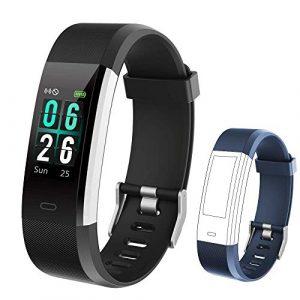 KUNGIX Fitness Armband, IP68 Fitness Tracker mit 0,96 Zoll Farbbildschirm Aktivitätstracker Uhr Wasserdicht Smartwatch Damen 14 Trainingsmodi Smart Watch Pulsmesser Schrittzähler Herren