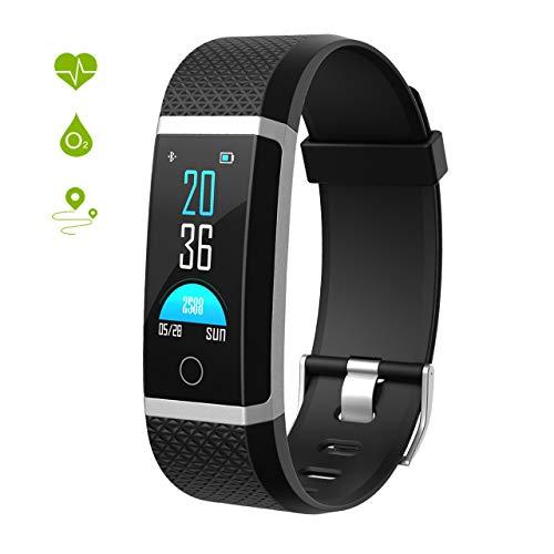 Seneo Fitness-Tracker, Smartwatch mit Pulsmesser, IP67 Fitness-Armband, Aktivitäts-Tracker, Herzfrequenz-Monitor, Schrittzähler, Sportuhr, IP67 für Damen und Herren