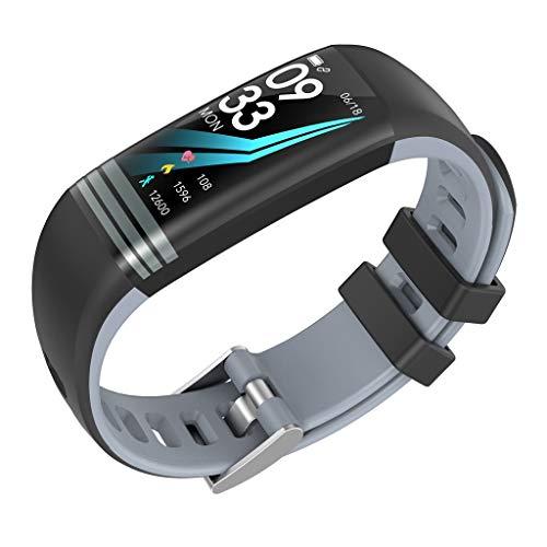 Muium G26s Smart Watch Sport Fitness Aktivität Herzfrequenz Tracker Blutdruck Uhr mit Schlafmonitor Schrittzähler Kalorienzähler für Kinder Damen Herrn (Grau)