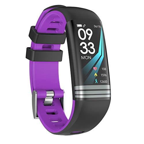 Muium G26s Smart Watch Sport Fitness Aktivität Herzfrequenz Tracker Blutdruck Uhr mit Schlafmonitor Schrittzähler Kalorienzähler für Kinder Damen Herrn (Violett)
