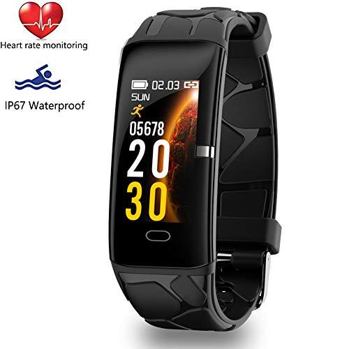 WISHDOIT Fitness Armband Fitness Trackers,Intelligentes Armband mit Pulsmesser, IP67 Wasserdicht Aktivitäts Tracker mit Schlafmonitor, Schrittzähler Uhr für Damen Herren Kinder,Für iOS Android