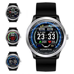 Smartwatch, Fitness Armband Sportuhr Smart Watch Mit Pulsmesser Schlafmonitor Schrittzähler Armbanduhr mit iOS Android für Kinder Damen Herren zum Laufen, Wandern und Klettern