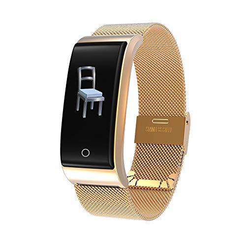 Mode Fitness Tracker | Intelligenter Armband-Armbanduhr-Metallherzfrequenz-Verfolger wasserdichtes Armband IP67 | Fitness Uhr für Android und IOS Smartphones | Damen Herren