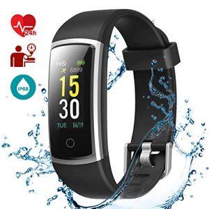 LATEC Fitness Tracker, Fitness Armband Smartwatch Wasserdicht IP68 mit Pulsmesser Fitness Uhr Aktivitätstracker Pulsuhren Schrittzaehler Uhr Smart Watch