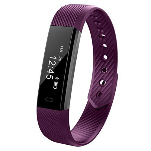 Fitness Tracker, wasserdichte Tracker mit Schrittzähler Schritt Schlaf Monitor Kalorienzähler Uhr für Frauen Männer Kinder