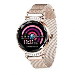 Knowin Smartwatch Fitness Uhr Damen iOS und Android Watch – Damenuhr Rosegold Aktivitätstracker Damen elegant Fitnessarmband mit Herzfrequenz Fitness Uhr mit Schrittzähler
