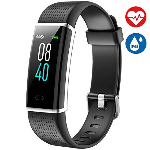 AISIRER Fitness Armband mit Pulsmesser Fitness Tracker Wasserdicht IP68 Farbbildschirm Schrittzähler mit 26 Trainingsmodi Vibrationsalarm Anruf SMS Whatsapp Kompatibel mit iOS Android Handy
