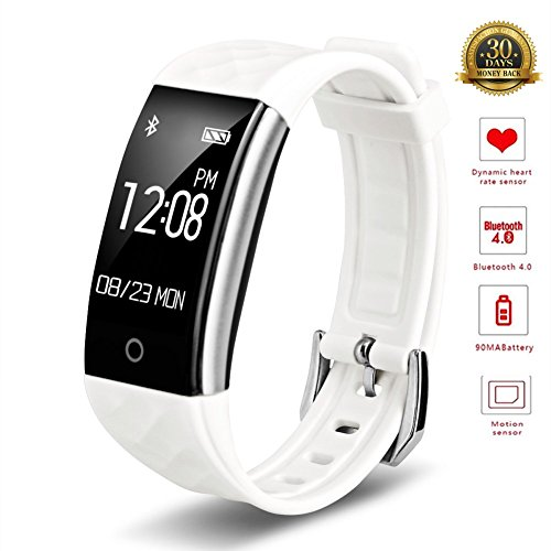 Smart Armband Wasserdicht IP67 Fitness Tracker-pedometers Herzfrequenz Monitor Sports Activity Smart Uhren, weiß