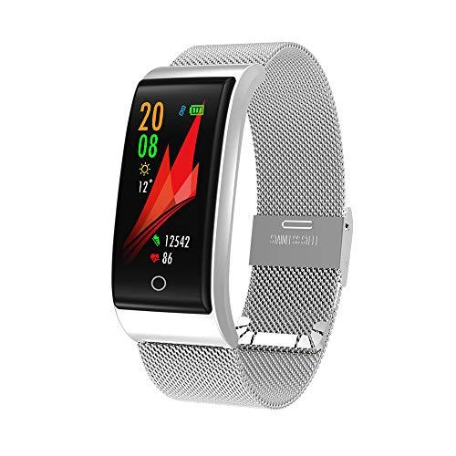 Mode Fitness Tracker   Intelligenter Armband-Armbanduhr-Metallherzfrequenz-Verfolger wasserdichtes Armband IP67   Fitness Uhr für Android und IOS Smartphones   Damen Herren
