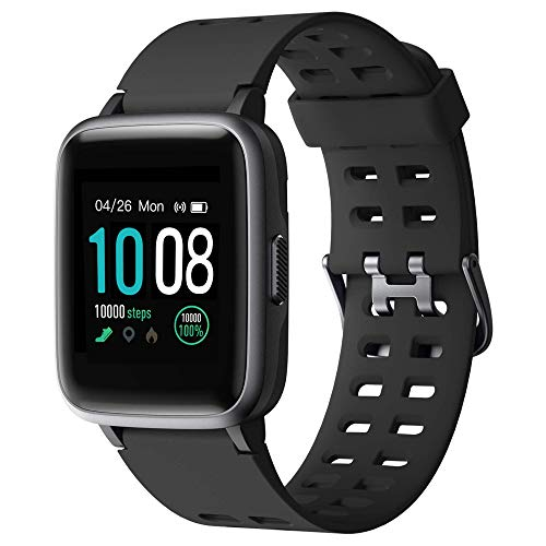 (Neuest 2019) GRDE Smartwatch, Bluetooth V5.0 Fitness Armbanduhr 1,3 Zoll Voll Touchscreen 5ATM Wasserdicht Sportuhr mit Pulsmesser Schlafmonitor Musiksteuerung Anruf SNS für Damen Herren iOS Android
