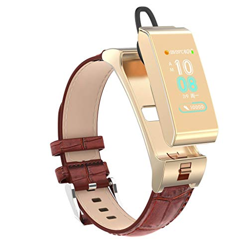 LRWEY Fitness Smart Watch, Fitness Tracker Blutdruck Herzfrequenz Sauerstoffsättigung Monitor Schlaf Monitor Pedometer Bluetooth Headset & Smart Armband iOS Android
