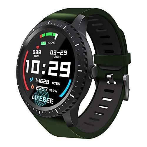 LIFEBEE Smartwatch, Fitness Armband Tracker Bluetooth Smart Watch Aktivitäts Sport Uhr IP68 Wasserdicht Damen Herren Smart Uhr Armbanduhr Pulsmesser Schlafmonitor SMS Beachten für Android iOS