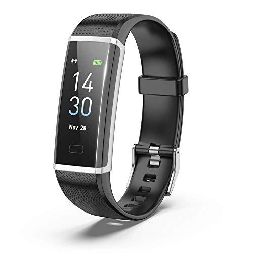Mygsn Watch Fitness Tracker - Herzmonitor Blutdruckmessgerät Schwimmen Aktivität Tracker Uhr Aktivität Tracker Uhr Watch (Farbe : Schwarz)