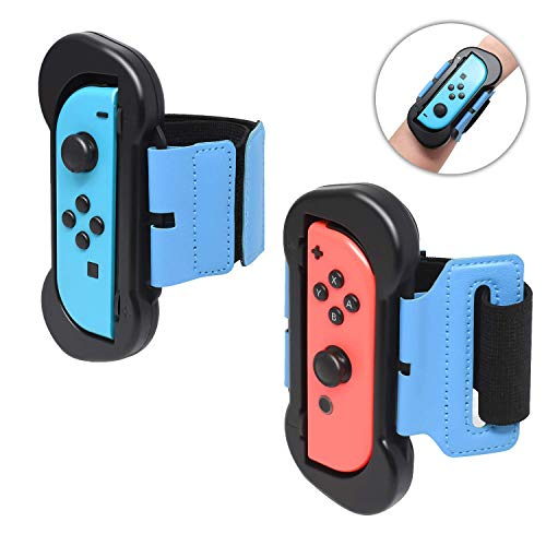 FYOUNG Kompatibel mit Just Dance 2019 Nintendo Switch Armbinde Gurte, Einstellbare Elastische Joy Con Handgelenksband Tanzgriff Grips für Switch Just Dance 2019/Mario Tennis Ace/Fitness Boxing