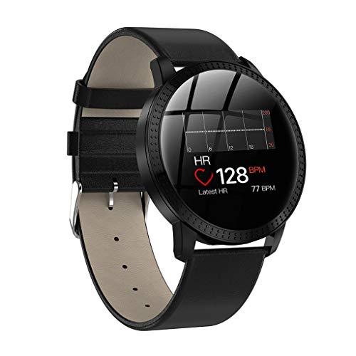 Fulltime E-Gadget Smart Watch 1,22 Zoll Sport Fitness Aktivität Herzfrequenz Tracker Blutdruck Uhr IP67 Wasserdicht Uhr Kompatibel mit Android Smartphone (Schwarz)
